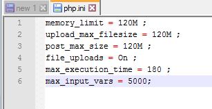 PHP.ini File for WordPress